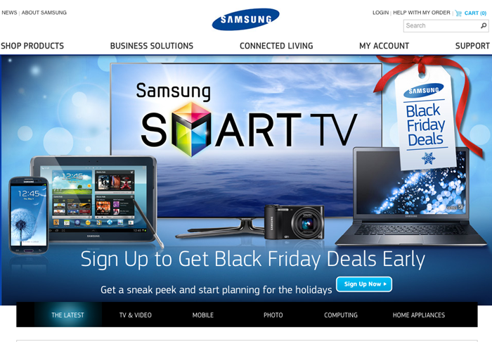 Samsung Mobile Shopping Website Built on Magento